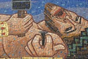 Jesus cross mosaic